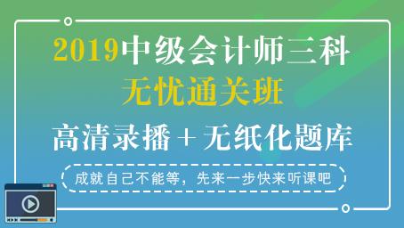 2019中级会计师通关套餐(录播+题库)
