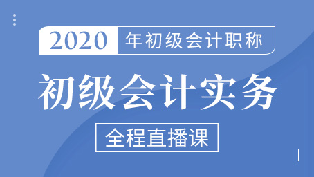 2020年初级会计实务冲刺班第一讲
