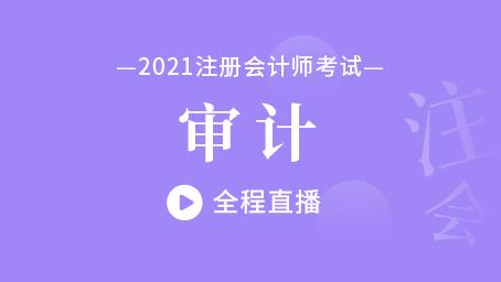 2021年注会审计冲刺串讲第一讲